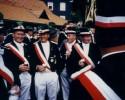 Der Vorstand und die Offiziere erwarten gespannt das Ergebnis. von links: Antonius Schnieders, Wilfried Neubert, Heinrich Siedhoff, Friedrich Hansjürgens, Heinrich Hesse