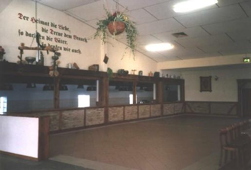 Der neu gestaltete Thekenbereich der Störmeder Schützenhalle