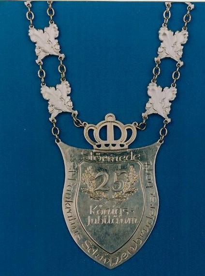 Kette des 25jährigen Jubelkönigs, gestiftet von Konrad und Maria Reitemeier (1982)